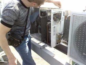 ремонт наружного блока кондиционера